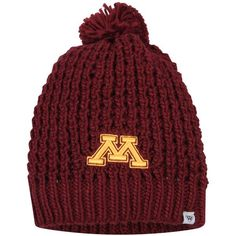 sports shoes a679f e31c0 Minnesota Golden Gophers Top of the World Women s Slouch Pom Knit Beanie -  Maroon