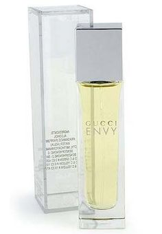 "ENVY BY GUCCI. ""WHY? Did someone have a bowl of crazy for breakfast and decided to discontinue the production in 2007?! Created by  Maurice Roucel  in 1997. Opening notes are Lily of the Valley, Green notes, and Hyacinth.  In the middle there is a sort of clean metallic note, almost like a silvery chord gone wrong in the middle. Hyacinthus, lily of the valley, rose, jasmine, green notes, magnolia, iris, woods and musk."
