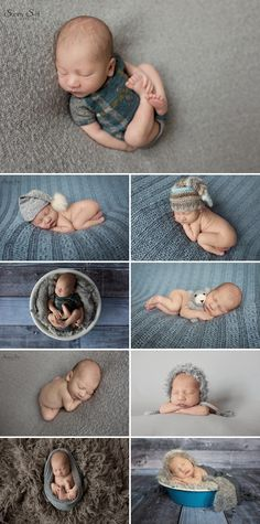 Cute grey and blue themed newborn photo shoot with 8 day old Justin.  Sunny S-H Photography Winnipeg