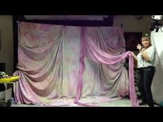 Backdrape Set-Up Guide - Pipe & Drape Backdrop System with Wedding White fabric - YouTube