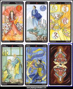 Newest member in my Tarot family. Very fine art and suprisingly intuitive to read. Manga Tarot by Lo Scarabeo, 2006, art by Anna Lazzarini