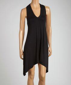Look at this #zulilyfind! Black Net-Panel Claudia Handkerchief Dress by Robin Piccone #zulilyfinds