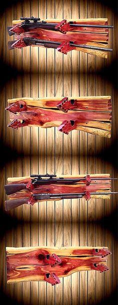 Racks 73961: Solid Cedar Wood 2 Gun Rack Display Wall Mount Live Edge Rifle Shotgun Cabin -> BUY IT NOW ONLY: $139.0 on eBay!