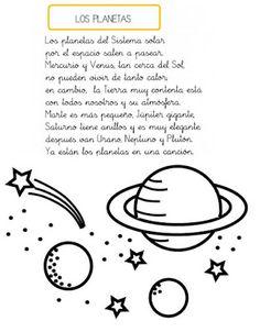 Menta Más Chocolate - RECURSOS PARA EDUCACIÓN INFANTIL: Poesias y Adivinanzas: LOS PLANETAS