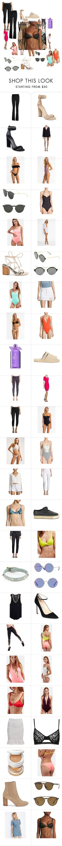 """""""Untitled #1982"""" by bucketlistdiary on Polyvore featuring Hale Bob, Kendall + Kylie, Alice McCall, Suboo, Illesteva, Kore, Solid & Striped, Rebecca Minkoff, J Brand and Proenza Schouler"""