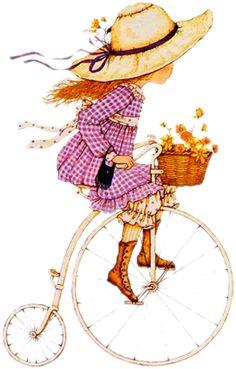 58 ideas flowers illustration kids sarah kay for 2019 Sarah Key, Holly Hobbie, Vintage Pictures, Cute Pictures, Penny Farthing, Hobby Horse, Cute Illustration, Illustrations, Vintage Flowers