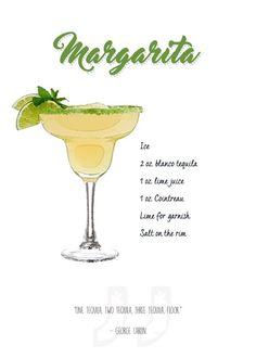 Popular Bar Cocktails Margarita #Displate artwork by artist \