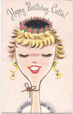 Birthday Greeting Card  for Fab Gal. via Etsy.