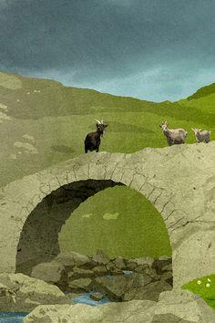 Three Billy Goats Gruff by DEVILandTHEDEEPSEA on Etsy