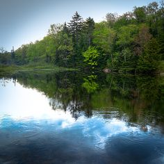 #ADK #Adirondacks #MooseRiver #OldForge - Spring on the Moose River - Taken from under the Green Bridge in Thendara, New York.