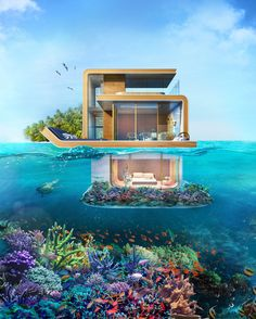 The Floating Seahorse House. For a cool $1.8 mil, it could be yours. Could you live underwater?