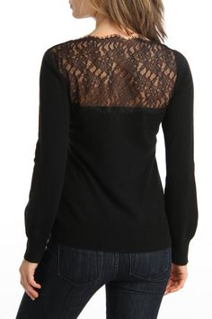 Lace Cashmere Sweater