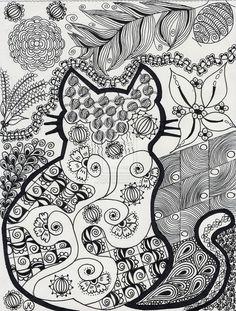 Cat Frame by diePoesie @ DeviantArt