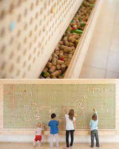 Cork pixel wall