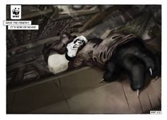 Smart idea. In 2010, comic noir posters via WWF Spain were put up at a comic book convention and then placed in comic book stores across the country. | The Most Powerful Ads Of The World Wildlife Fund