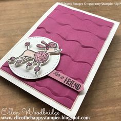 Ellen Woodbridge Independent Stampin' Up! Handmade Birthday Cards, Greeting Cards Handmade, Stampin Up Catalog 2017, Birthday Delivery, Funny Boyfriend Gifts, Friend Birthday, Diy Birthday, Happy Birthday, Send A Card