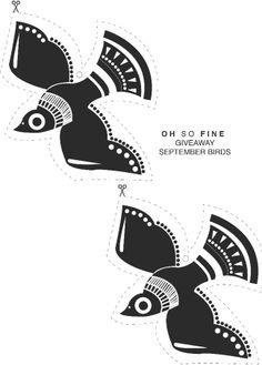 September birds template.  Nice, very nice in black/white.