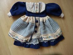 Puppenkleidung-Puppensachen-Puppenkleid-DDR-Puppenkleid-Puppenzubehoer-Puppe