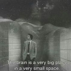 """The brain is a very big place, in a very small space"" -Carl Sagan Carl Sagan, Pretty Words, Beautiful Words, Beautiful Pictures, Movie Lines, Film Quotes, Quotes Quotes, Quote Aesthetic, Some Words"