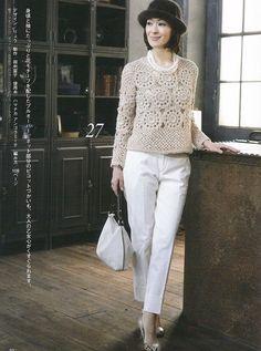 Crochetemoda: Blusa de Crochet. Free pattern. Would look great in black.