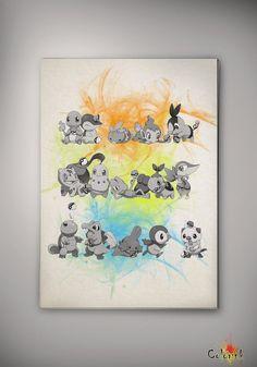 Pokemon Watercolor illustrations Art Print 8x10 11x16 Wall Art Poster Giclee Wall Anime Art Home Decor Wall Hanging Modern Geek A3 Nursery on Etsy, 62,50zł