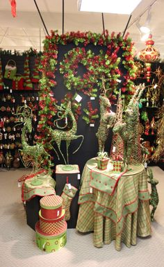 """Our """"Red / Lime"""" theme on display in our Dallas showroom. #red #lime #craigbachman"""