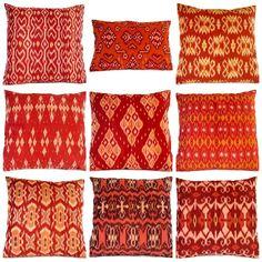 ikat pillows on etsy