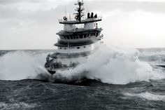 Abeille Bourbon Giant Waves, Offshore Boats, Big Sea, Riders On The Storm, Rough Seas, Merchant Marine, Rescue Vehicles, Stormy Sea, Tug Boats