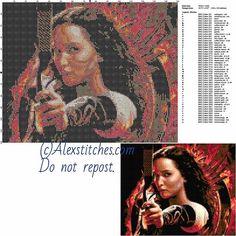 Katniss Everdeen - The Hunger Games free pattern (50x120)