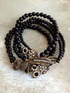 Owl & Feathers Bracelets