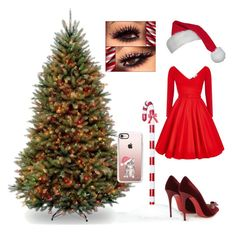 """Classy Christmas Hostess"" by angelic-blue ❤ liked on Polyvore featuring Christian Louboutin and Casetify"