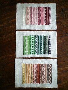contemporary stitch samplers