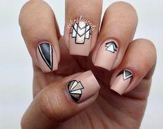 art deco nail art
