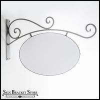 40in. Low Profile Milano Arch Blade Sign Bracket w/ PVC Blank