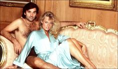 Bed of dreams ... George Best with Miss World Mary Stavin