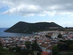 Azores, Portugal: View of Angra from hilltop