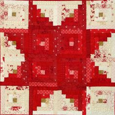 "Star Log Cabin quilt, 40 x 40"", tutorial by Marlene Biles"