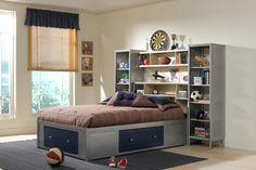 Hillsdale 1178472BFR Universal Bookcase Headboard Bed - Full - w/Storage Platform