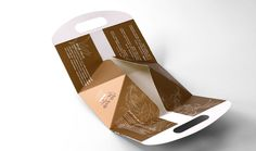 one-piece package carrier box design (quickly folding, saving cost of time and labor while packaging) - unfolded version