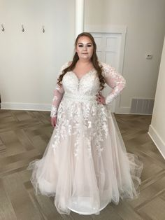 AFFORDABLE ROMANTIC PLUS SIZE WEDDING DRESS Wear Store, Bridal And Formal, Long Sleeve Wedding, Plus Size Wedding, Formal Wear, Special Occasion, Bridesmaid, Prom, Romantic