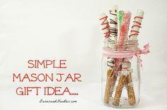 Merry Christmas Pretzels {Gift Idea and Recipe}