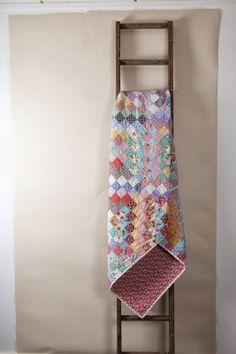 Quilt on ladder by - i'm a ginger monkey