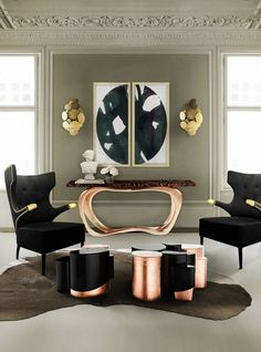 Living Room Ideas Luxury luxury living room | grays, champagne and gold.| www.bocadolobo