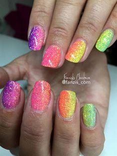 Rainbow Glitter Ombre by Fanzis_com via @nailartgallery #nailartgallery #nailart #nails #gel #glitter #summer #rainbow #multicolor #ombre