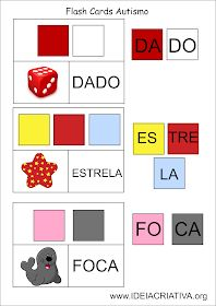 Flash Cards Letra Sílaba Autismo Sorting Activities, Preschool Worksheets, Teaching Letters, Autism Resources, Pre School, Speech Therapy, Books, Cards, Calming Jar