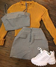 This is really cute #lovethisoutfit  I love the yellow jumper under to the top #fashiongoals Bell Sleeves, Bell Sleeve Top
