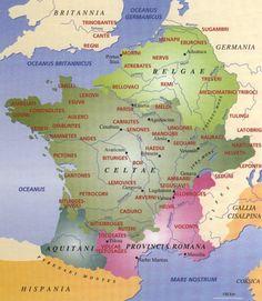 SOUMISSION DE LA GAULE BELGIQUE 57 av JC, 1° Campage contre les Belges, 1: La menace germaine d'Arioviste ayant pris fin, l'ancienne inimité entre les tribus gauloises refait surface et, dans un même temps, l'intolérance croissante de l'occupation romaine. Dans cette situation, de nombreux gaulois cherchent des alliances avec les Belges qui eux-mêmes s'unissent contre Rome. César alors en Gaule cisalpine, est informé de cette ligue par Titus Labienus, commandant des légions romaines en…