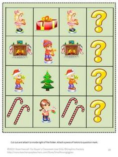 This is fun file folder game packet for Christmas. Christmas is a fun time for all of us, especially children. They love anything related to Christmas. Students will enjoy learning with this Christmas File Folder packet with its Christmas theme. It contains 29 pages and makes 6 file folder games.