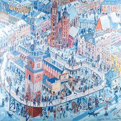EDWARD DWURNIK (1943)  KRAKÓW, 1997   olej, płótno / 152 x 152 cm