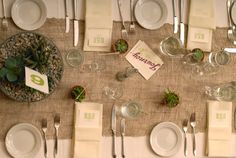Same-sex, Botanical, Farmhouse Wedding - Green, Table, Runner